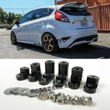 For 14-Up Ford Fiesta ST Hatchback Black Rear Wing Spoiler Riser Extender Kit