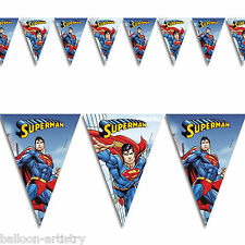 DC Comics Metropolis SUPERMAN Children's Party Flag Banner Bunting Decoration