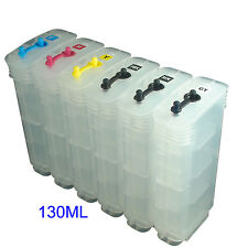 HP72 Designjet T610 T1120 T1200/ps T1300 T2300 refillable ink cartridge 130ML*6