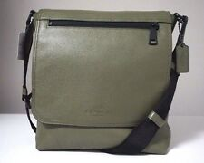 Coach Sullivan Pebble Leather Surplus Green Small Messenger Bag F71621
