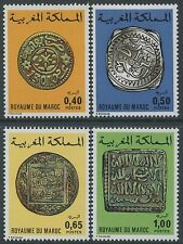 MAROC 1976 N°746/749**  Anciennes Monnaies Marocaines, MOROCCO Complete Set MNH
