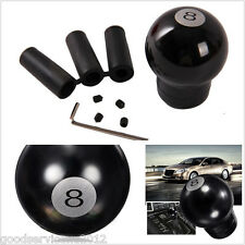 3D Black 8 Ball Speed Car SUV Shift Knob Manual Gear Stick Shifter & 3 Adapters