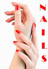 SALON SPA HEALTH BEAUTY NAILS MANICURE POSTER PRINT A3 260GSM