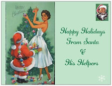 20 CHRISTMAS African American Vint Repo SANTA TREE Decorate Greeting Post Cards