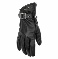 Black Brand The Crystal Leather Motorcycle Gloves Women's Large