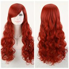 """sexy POISON IVY Batman Red Long Wavy 80cm 32"""" Anime Cosplay Hair Wig~"""