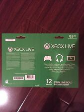 XBOX LIVE 12month Membership Gold Card (US)
