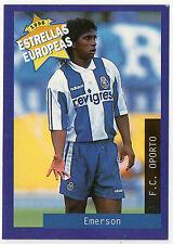 Panini 1996 Estrellas Europeas Spanish Issue Card Emerson Costa F.C. Oporto