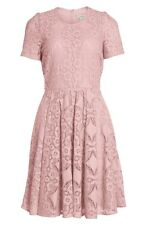 NWT Burberry London 'Velma' Short Sleeve Lace Fit & Flare Dress
