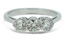 Three Stone Brilliant Cut Diamond Ring 1.60ct 18ct White Gold