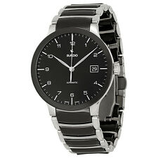 Rado Centrix Automatic Black Dial Two-Tone Ceramic Mens Watch R30941162