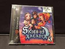 New Sealed Skies of Arcadia Sega Dreamcast Black Label 2000 Very Rare Video Game