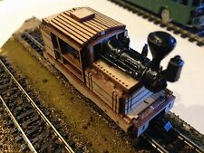 ULRICH N SCALE LASER CUT CLIMAX LOGGING STEAM LOCOMOTIVE BALOON STACK