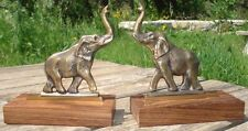 1950's Bookends Elephants Serre-Livres