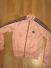 W@W ADIDAS LADIES GIRLS PINK POLYESTER TRACKSUIT JACKET TOP & TROUSERS UK 10/12