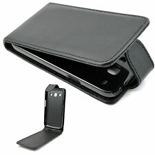 Black Leather Flip Case Cover Holster For Samsung Galaxy Star Advance SM G350E