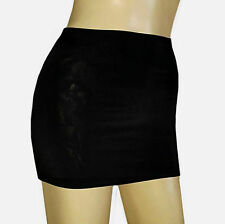 SIZE 10-12 BLACK LIGHTWEIGHT LYCRA PULL ON MICRO MINI SKIRT BOOTY PARTY STRETCH