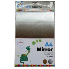 A4 Gold & Silver Mirror Card - 12 sheets (6 of each)