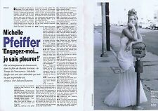 Coupure de presse Clipping 1993 Michelle Pfeiffer   (2 pages)