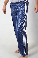 MENS NEW SHINY SILKY SOFT WET LOOK UNLINED NYLON TRACKSUIT BOTTOMS CAL SURF XXL