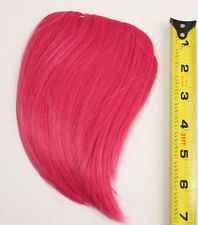 7'' Short Clip on Bangs Deep Pink Cosplay Wig Hair Extension Accessory NEW