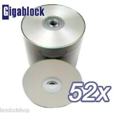 1000pcs CD-R 52x Silver Inkjet Full Face Hub Printable