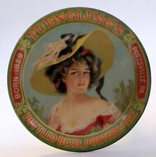 c. 1910 YUENGLING'S BEER PORTER ALE Pottsville PA tin litho tip tray High Grade