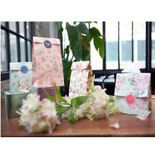 3pc Flowers Paper Gift Bags Xmas Party Holiday Cookies Bag and Sticker