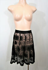 Review Size 10 Black Lace Skirt *