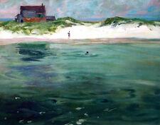 Woodbury Charles Bathers Ogunquit Beach Maine Print 11 x 14   #3820