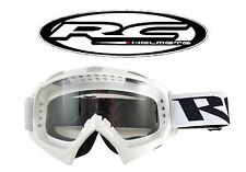 Lunette moto cross RC BLANC lunettes Masque (Shark Shoei Fox) Scooter