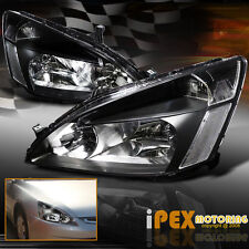 2003-2007 Honda Accord 2Dr Coupe/4Dr Sedan JDM Black Headlights Headlamps