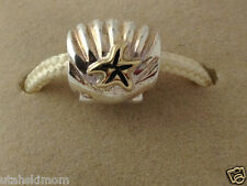 Authentic Chamilia Silver &14K Gold Shell Wth Star Bead New KC-28