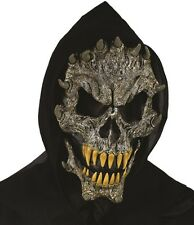 Halloween Fancy Dress Hooded Horns Skeleton Mask Horror Monster Mask #93210 New