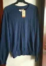 PENGUIN MEN'S LOGO V-NECK SWEATER,NAVY BLUE size Medium