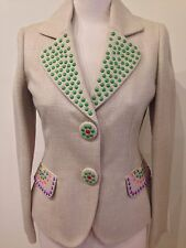 NEW MOSCHINO FUNKY BEADED JACKET SIZE 12