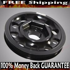 BLACK SINGLE BELT Crank Pulley for  94-01 Integra 88-00 Civic 88-91 CRX B16AB18A