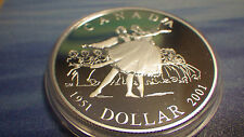 2001 $1 SILVER PROOF DOLLAR Canada (FROM D-D PROOF SET)