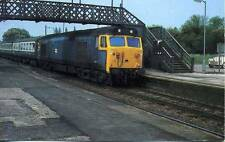 Diesel Locomotive Class 50 Blue livery Radley Oxfordshire unused 1970s postcard