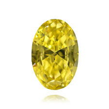 Yellow Loose Diamond Oval Shape Natural Fancy Color 0.56Ct VS2