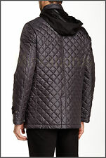 $279 NWT Mens Cardinal of Canada Lightweight Hooded Quilted Jacket Charcoal Sz S