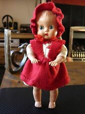 "Vintage Made in England hard plastic baby doll 8"" tall. Pedigree? Roddy?"