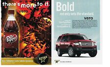 DR PEPPER mag ad print clipping FORD EXPEDITION soda pop soft drink DALLAS STARS