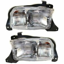 1999 - 2004 CHEVY TRACKER HEADLIGHTS HEADLAMPS PAIR LEFT & RIGHT