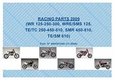 Husqvarna Racing Parts Manual Book 2009 WR 125, WR 250 & WR 300