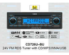 24 voltios camión radio RDS-tuner CD mp3 WMA USB Truck bus 24v cd726u-bu (cd7326u-or)