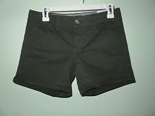 "NEW W/ Tags American Eagle Women's ""Midi"" Dark Green Forest Khaki Shorts Size 2"