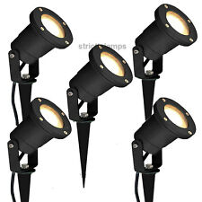 5 x BLACK GARDEN SPIKE OR WALL LIGHT GU10 50W IP44 Spike Light