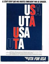 PUBLICITE ADVERTISING  1987   UTA   USA