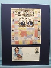 Abraham Lincoln & Hannibal Hamlin win the 1860 Election  & First Day Cover